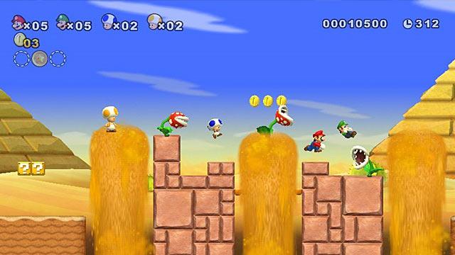 New Super Mario Bros. Wii Screen